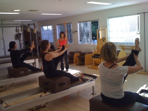 Advanced Semi-Privated Pilates Session at The Vertical Workshop with Shari Berkowitz