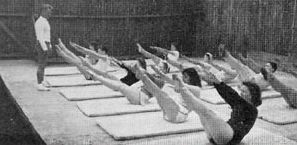Joseph Pilates teaching at Jacob's Pillow