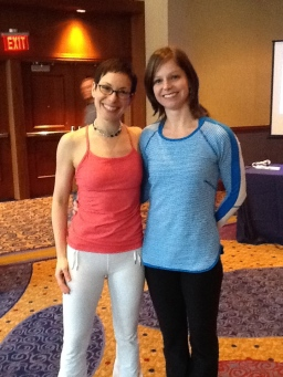 Shari Berkowitz and Cheryl Sullivan Cole at Pilates on Tour Atlanta, GA 2013